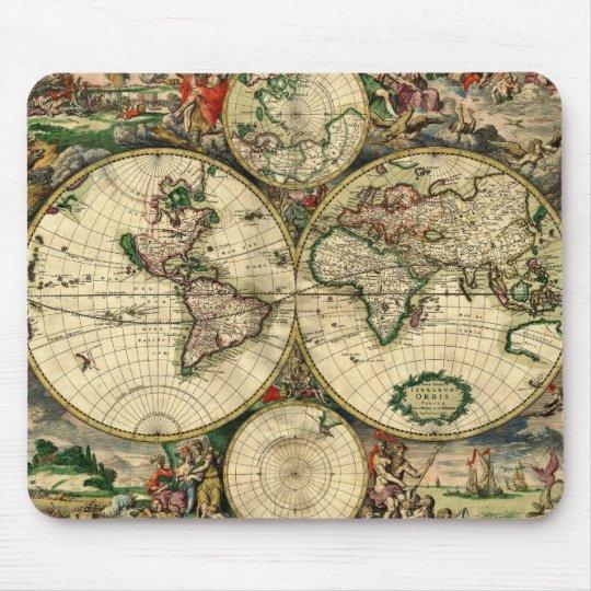 Mapa del mundo de 1689 regalos tapete de raton