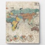 Mapa del mundo de 1853 japoneses de Suido Nakajima