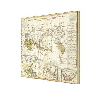 Mapa del mundo de enfermedades impresión en lona