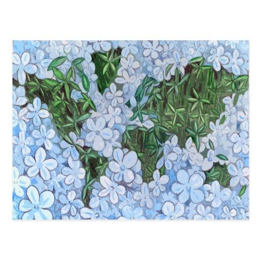 Mapa del mundo de la flor postal
