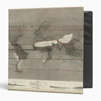 """Mapa del mundo de la precipitación carpeta 1 1/2"""""""