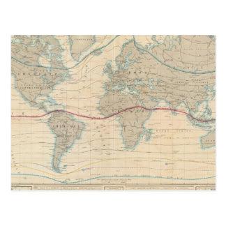 Mapa del mundo de la vegetación postal