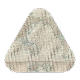 Mapa del mundo de los canales de envío altavoz bluetooth