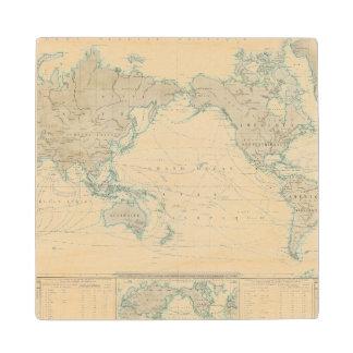 Mapa del mundo de los canales de envío