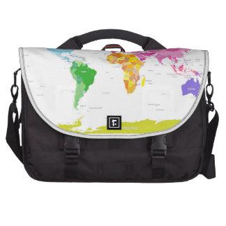 Mapa del mundo de los continentes bolsa para ordenador