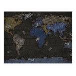 Mapa del mundo de los vaqueros postales