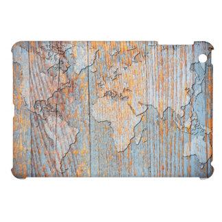 Mapa del mundo de madera artístico