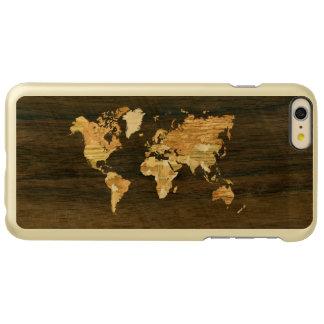Mapa del mundo de madera