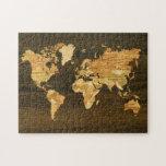 Mapa del mundo de madera puzzles con fotos