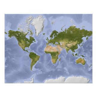 Mapa del mundo de Mercator Fotografias