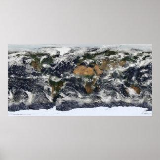 Mapa del mundo de MODIS Poster