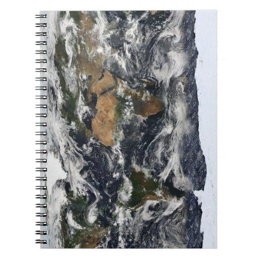 Mapa del mundo de MODIS Spiral Notebook