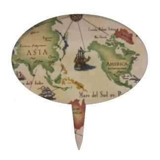 Mapa del mundo decoración para tarta