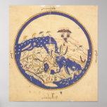 Mapa del mundo del al-Idrisi's Posters