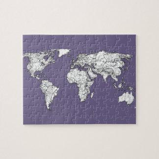 mapa del mundo del atlas de la lila puzzle