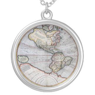 Mapa del mundo del atlas del vintage collar personalizado