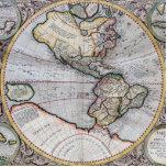 Mapa del mundo del atlas del vintage esculturas fotograficas