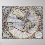 Mapa del mundo del atlas del vintage posters