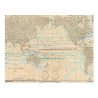 Mapa del mundo del clima postal