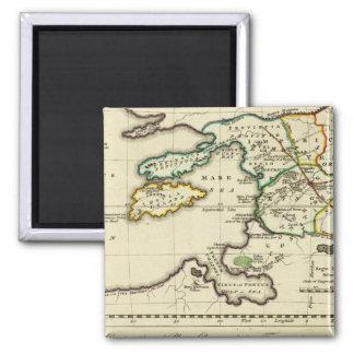Mapa del mundo del espécimen del geographicarum de imán de nevera