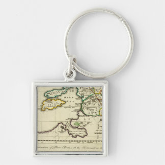Mapa del mundo del espécimen del geographicarum de llaveros