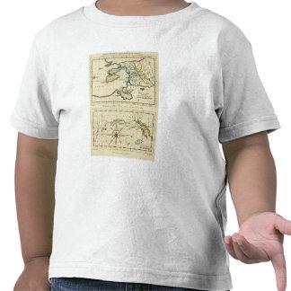 Mapa del mundo del espécimen del geographicarum de camisetas