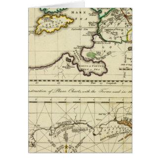 Mapa del mundo del espécimen del geographicarum de felicitacion
