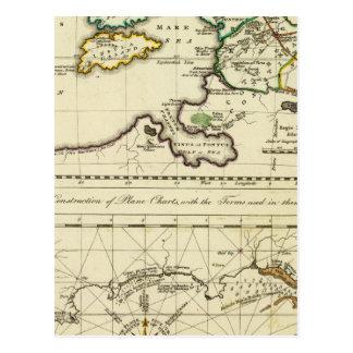 Mapa del mundo del espécimen del geographicarum de postal