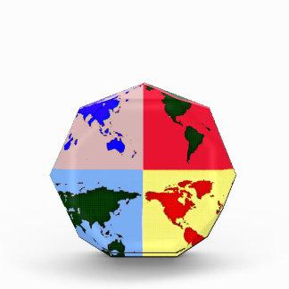 mapa del mundo del estilo del estallido