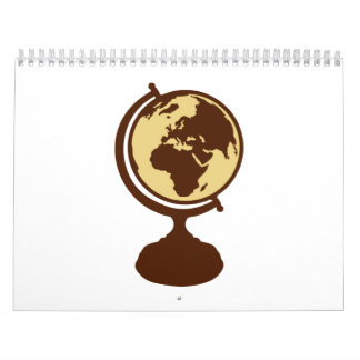 Mapa del mundo del globo calendario