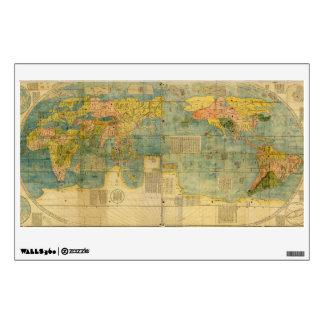 Mapa del mundo del japonés de Kunyu Wanguo Quantu  Vinilo