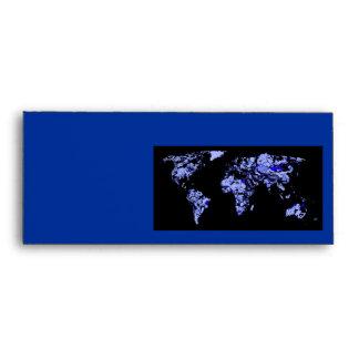 Mapa del mundo del negro azul sobre