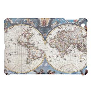 Mapa del mundo del siglo XVII antiguo