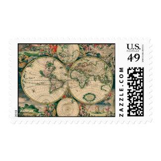 Mapa del mundo del siglo XVII Sello