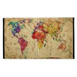Mapa del mundo del vintage