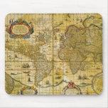 Mapa del mundo del vintage alfombrillas de raton