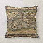 Mapa del mundo del vintage almohada