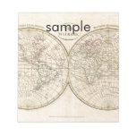 Mapa del mundo del vintage bloc de papel