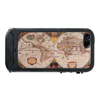 Mapa del mundo del vintage circa 1600 carcasa de iphone 5 incipio atlas id