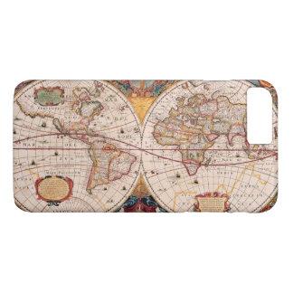 Mapa del mundo del vintage circa 1600 funda iPhone 7 plus