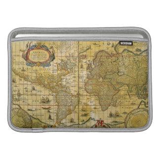 Mapa del mundo del vintage fundas para macbook air