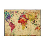 Mapa del mundo del vintage iPad mini carcasa