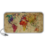 Mapa del mundo del vintage iPod altavoces