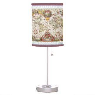 Mapa del mundo del vintage lámpara de escritorio