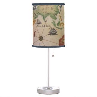 Mapa del mundo del vintage lámpara de mesilla de noche