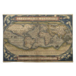 Mapa del mundo del vintage mantel individual