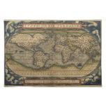 Mapa del mundo del vintage manteles individuales