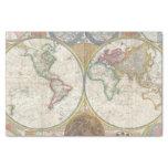 Mapa del mundo del vintage papel de seda pequeño