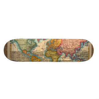 Mapa del mundo del vintage patín