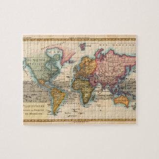 Mapa del mundo del vintage puzzle